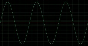 Форма волны 100 Hz до искажений